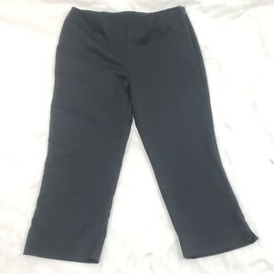 Wrapper Solid Black Lightweight Capris Pants